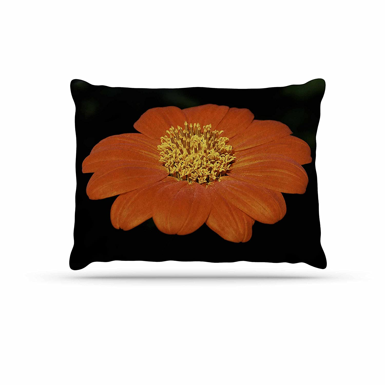 KESS InHouse Nick Nareshni Wet Red Flower Petals Red Black Dog Bed, 50  x 40