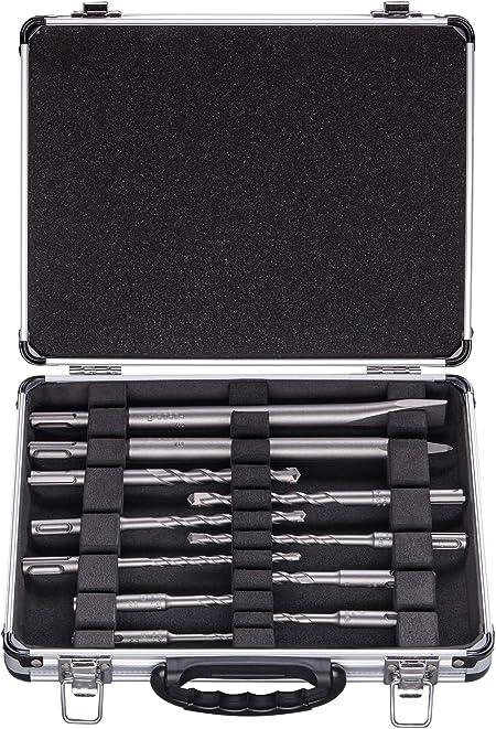 mèches 5 à 12 mm Coffret BOSCH de 11 forets pics et burins à béton SDS+ Diam