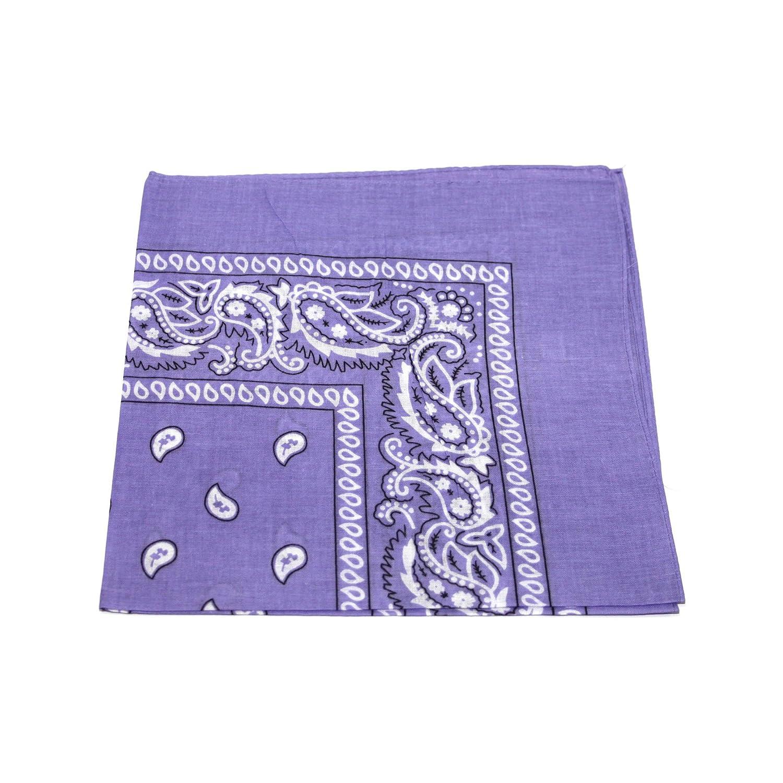 Mens//Womens Bandana Head Scarf Neck Scarves Paisley 100/% COTTON Light Purple Mens Bandana Head Scarf UK SELLER