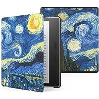 Capa Kindle Oasis WB® Auto Liga/Desliga Ultra Leve Fecho Magnético - Couro (Van Gogh)