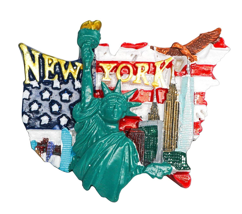Fashion Ave, Times Square, Broadway zamonji 3D R/ésine R/éfrig/érateur Aimants De Cuisine Home Decor Tourist Souvenir de Voyage New York /États-Unis