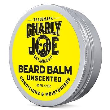 Gnarly Joe - Bálsamo para barba sin perfume, cera para dejar y acondicionador para hombres