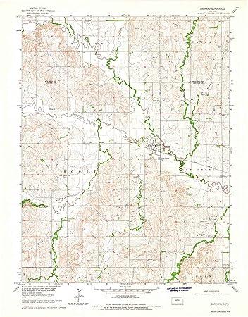 Amazon Com Kansas Maps 1964 Barnard Ks Usgs Historical