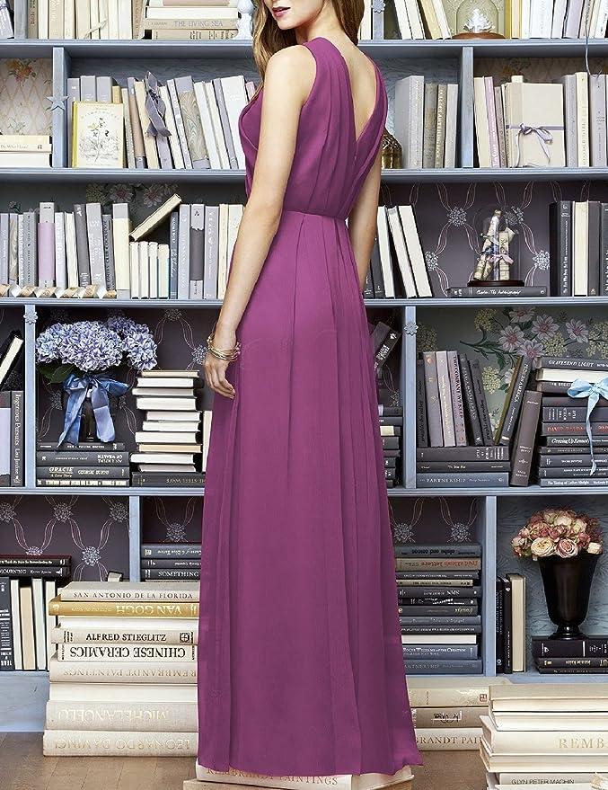 Amazon.com: JoJoBridal Womens Long Chiffon Ruched Formal Evening Dresses Prom Gowns M220: Clothing