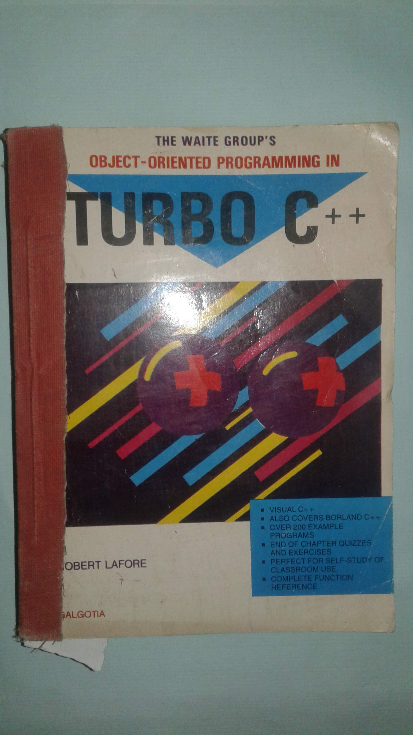 The Waite Group's Object Oriented Programming In Turbo C++