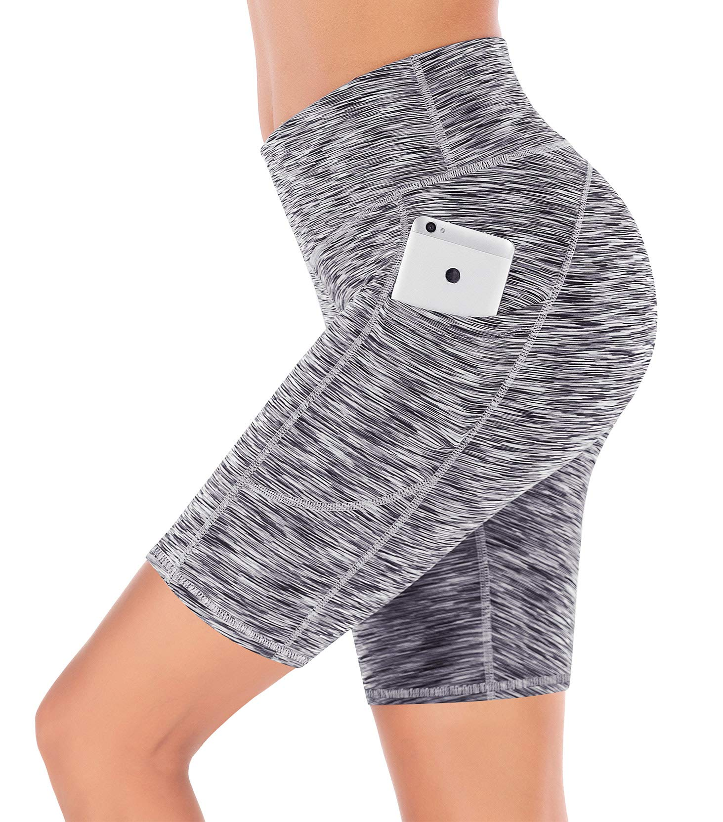 IUGA Yoga Shorts for Women Workout Shorts Tummy Control Running Shorts with Side Pockets by IUGA