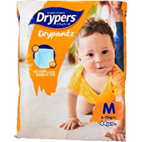Drypers Drypantz Diapers, M, Carton, 4 packs x 44 Count