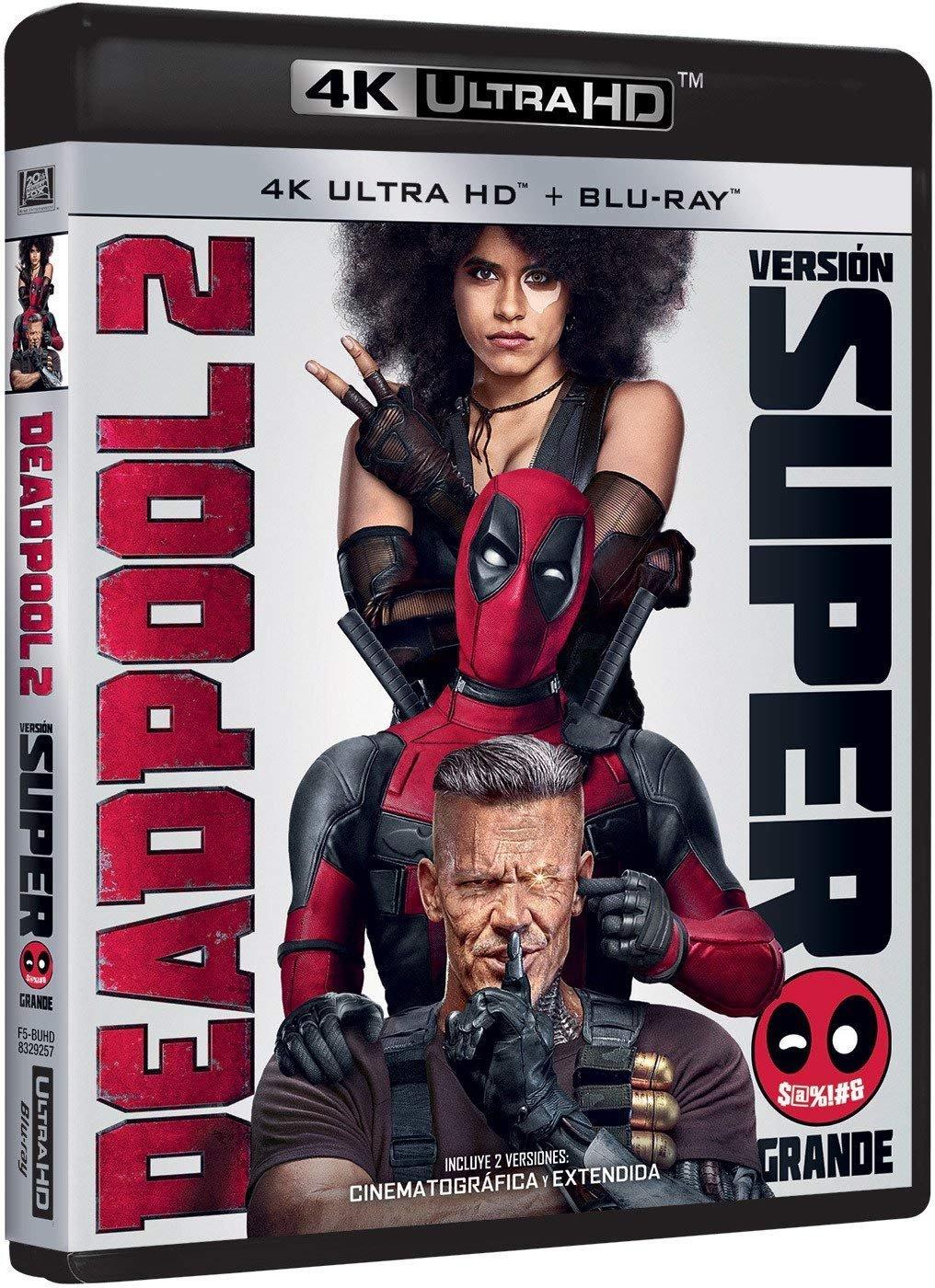 Deadpool 2 Versión Super $@%!# Grande 4k Uhd Blu-ray: Amazon.es: Ryan Reynolds, Josh Brolin, Morena Baccarin, Eddie Marsan, David Leitch, Ryan Reynolds, Josh Brolin: Cine y Series TV