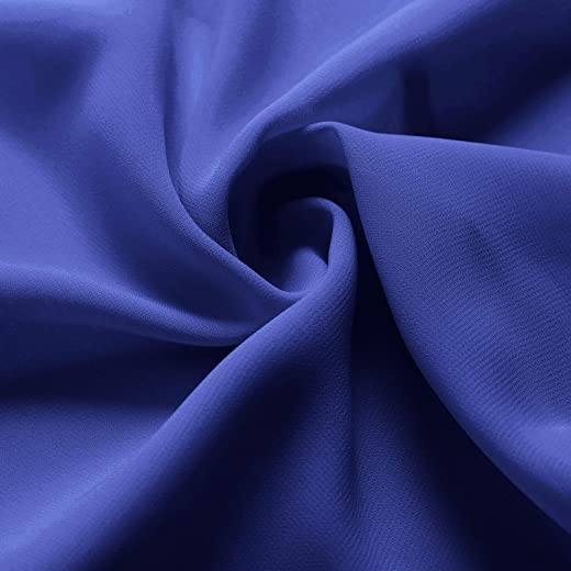 Alicepub Solid Color Sheer Chiffon Fabric by The Yard for Wedding Arch Chiffon Panels, Canopy Draping, Chuppah Drapes,Royal Blue