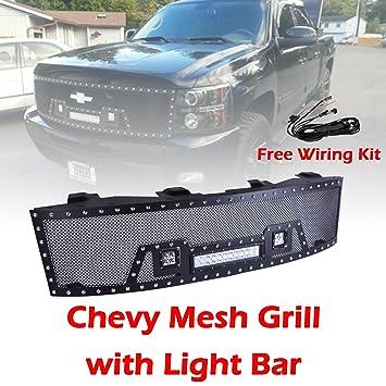 81RJyJnzj1L._SY355_ amazon com ohmu chevrolet chevy silverado front mesh grill grille