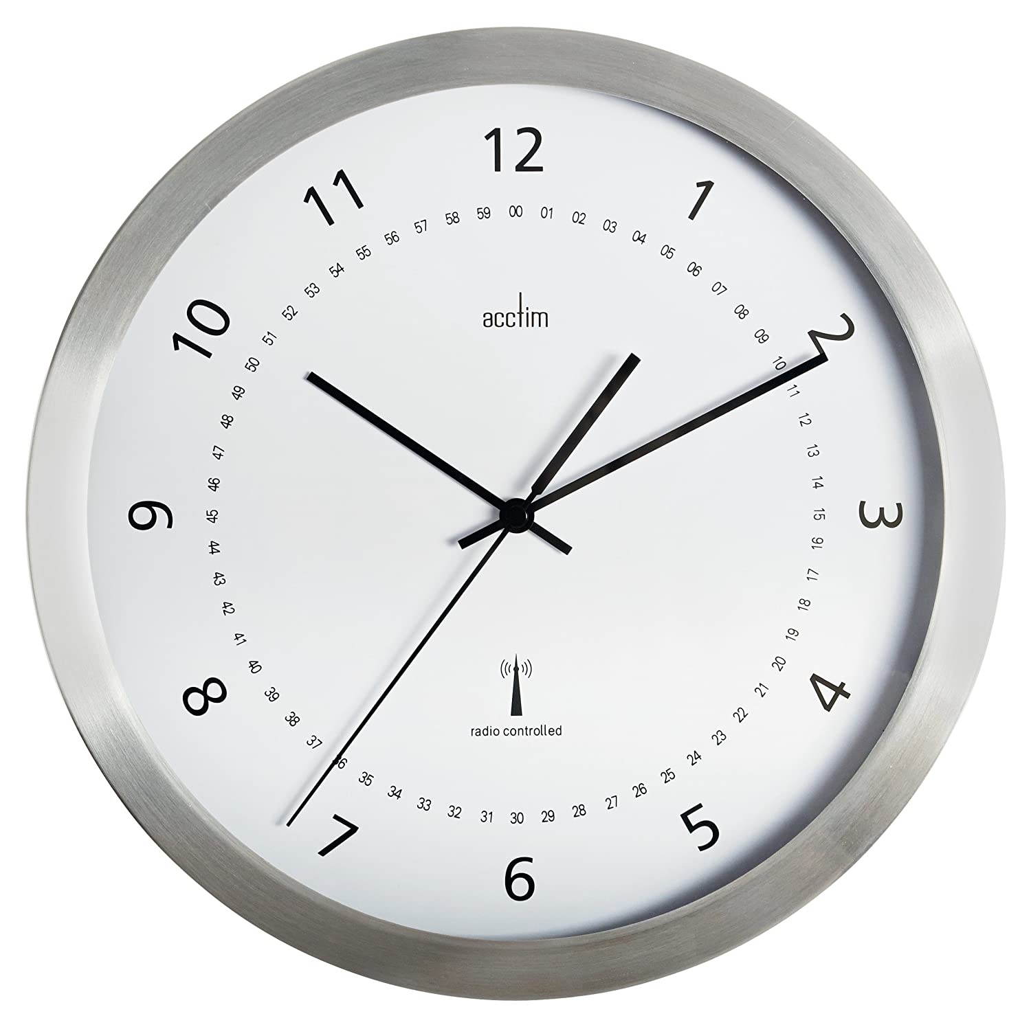 Acctim 74277 Kaava Radio Controlled Metal Case Wall Clock, 12 Inch Clocks Decorative_Accessories
