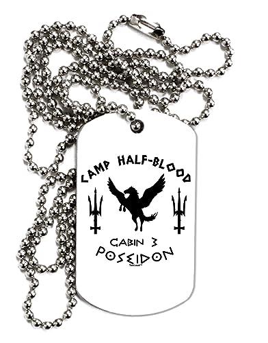 Tooloud Cabin 3 Poseidon Camp Half Blood Adult Dog Tag Chain