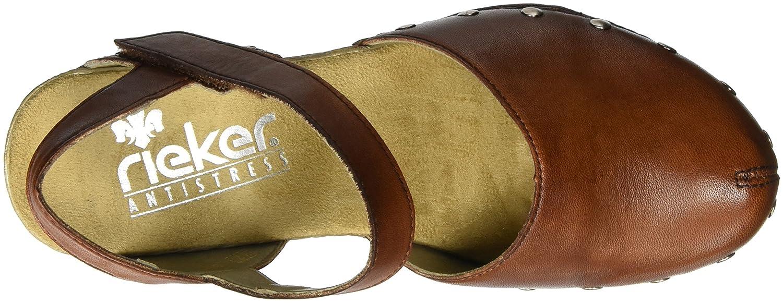 Rieker Damen 66761 Geschlossene Sandalen Sandalen Geschlossene Braun (Amaretto / 24) 7ce2e3