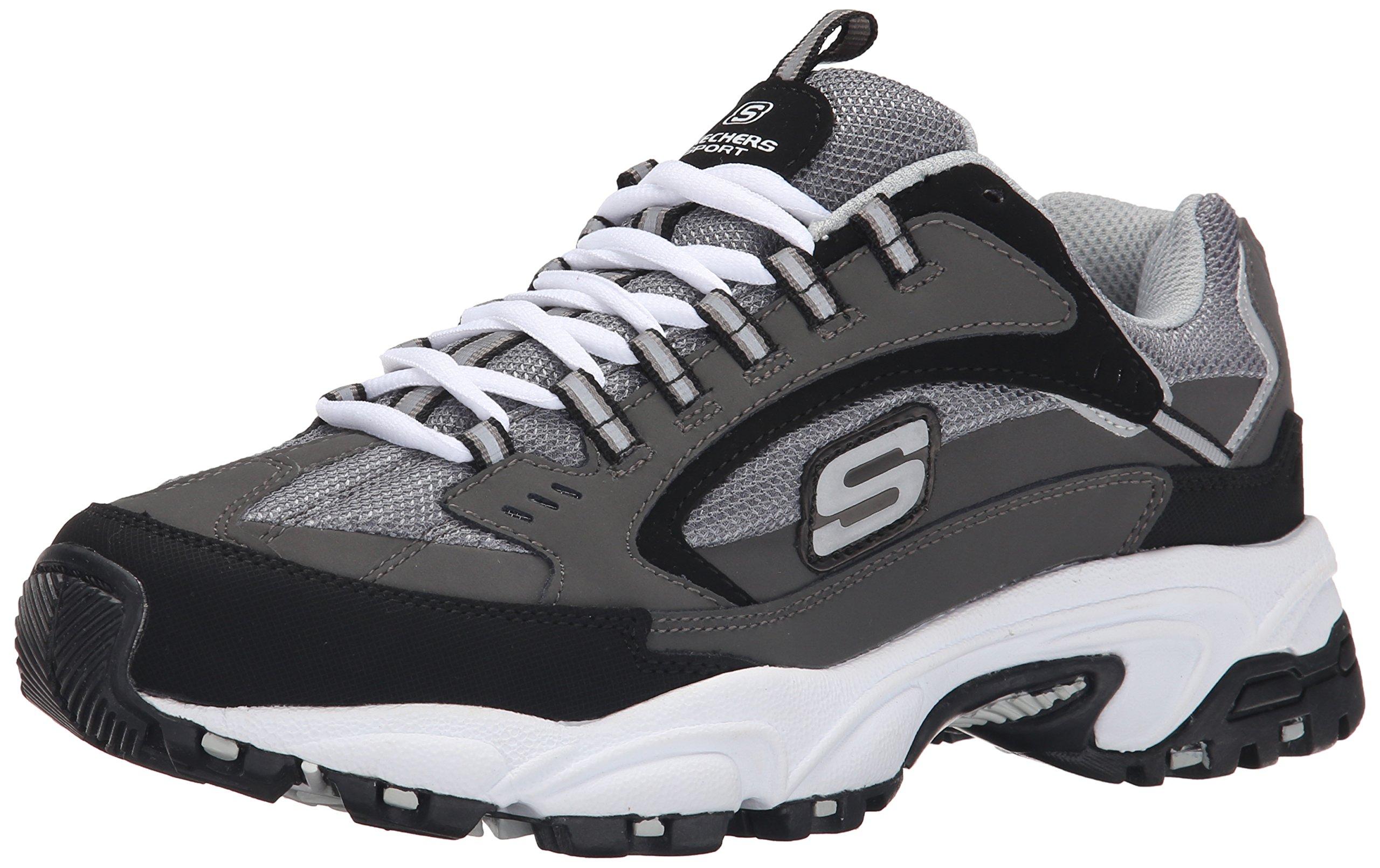 Skechers Sport Men's Stamina  Cutback Lace-Up Sneaker,Charcoal Cutback,7.5 M US