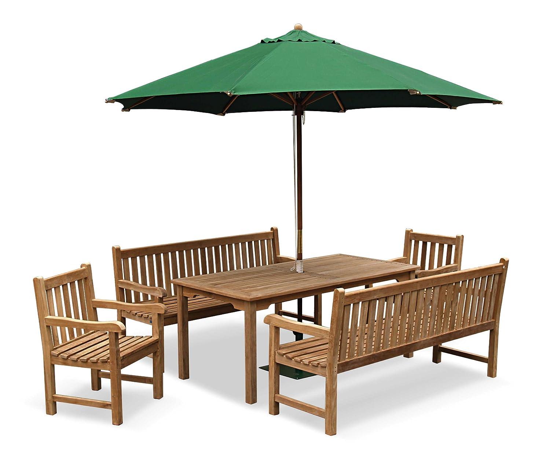 Cambridge Garden Bench Set   1.5m Teak Bench And Table Set   Jati Brand,  Quality U0026 Value: Amazon.co.uk: Garden U0026 Outdoors