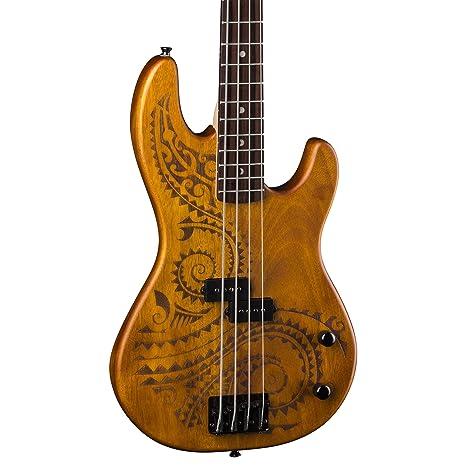 Luna Guitars sistema de refuerzo TAT escala larga 34 bajo eléctrico para tatuajes