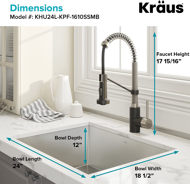 Amazon.com: Kraus Pax KHU103-33 - Fregadero de lavabo ...