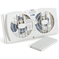 Holmes HAWF2043 Dual Blade Twin Window Fan One Touch Thermostat …
