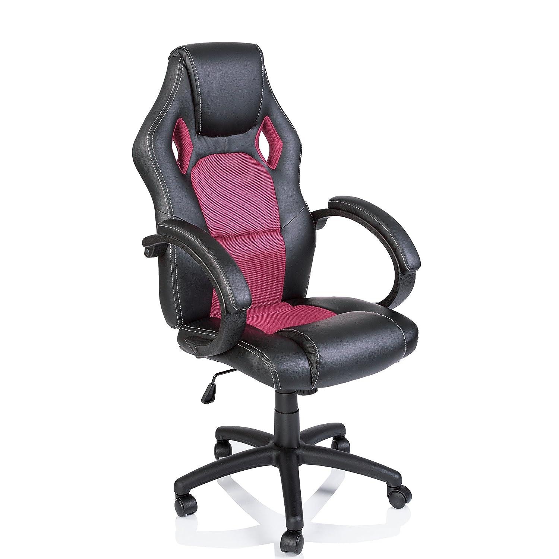 TRESKO Silla giratoria de oficina Sillón de escritorio Racing disponible en 14 colores, bicolor, silla Gaming ergonómica, cilindro neumático certificado por ...