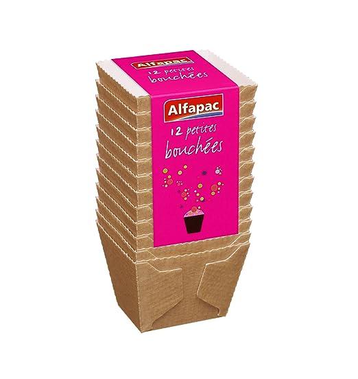 Alfapac PM Bouchees sartenes Mini pan de papel de horno 12 piezas por paquete 3 paquetes