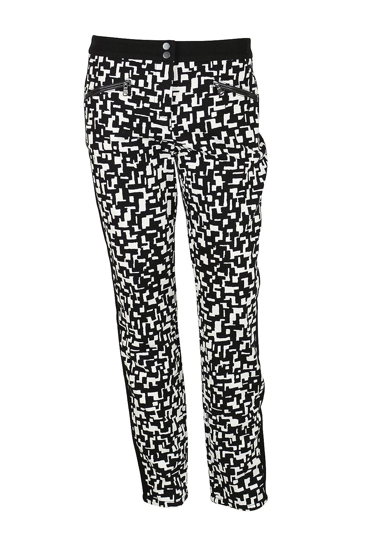 Trina Turk Womens Black White Lennon Geometric Knit Dress Pants