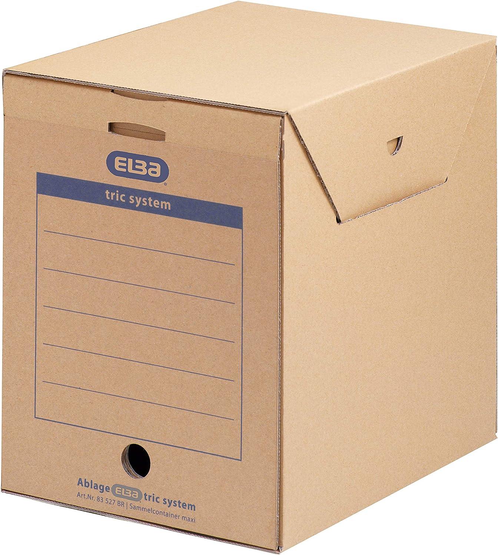 Elba 83527 - Caja de almacenamiento para archivadores y otros papeles (6 unidades), color marrón: Amazon.es: Oficina y papelería
