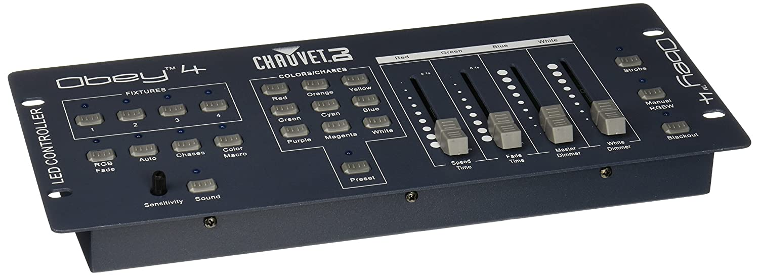 CHAUVET DJ Obey 4 Compact DMX Controller for LED Wash Lights: Amazon.co.uk:  Musical Instruments