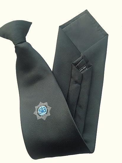 Negro oficial de seguridad Clip de corbata con Sia con licencia ...