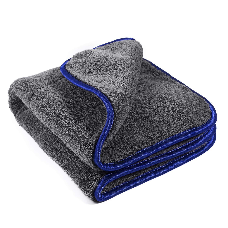 Geabon Serviettes de nettoyage de voiture 1200GSM, Serviettes de séchage de voiture , Voiture Microfibre Serviette pour polissage, le lavage, l'épilation à la cire, Microfibre de Nettoyage Chiffons Serviettes de séchage de voiture