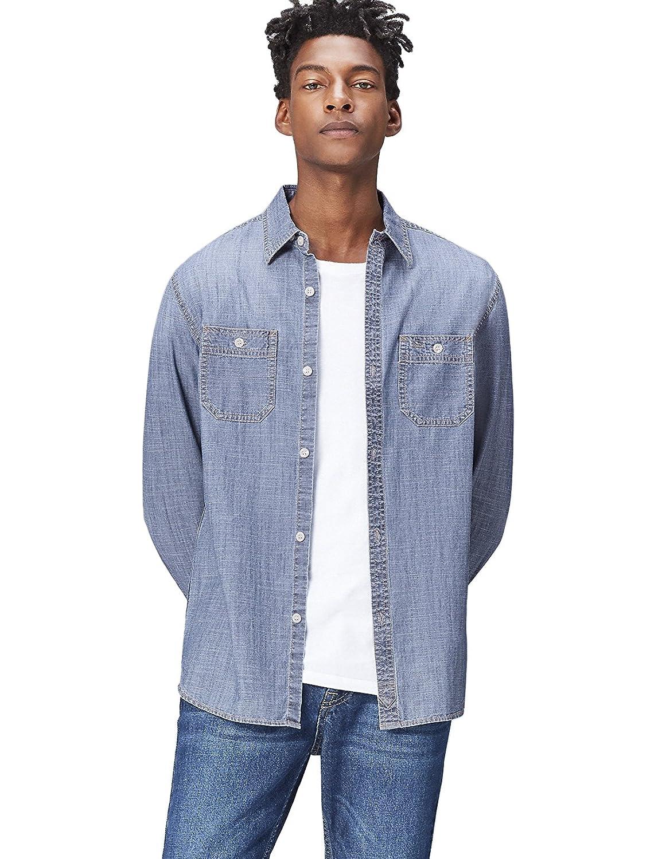 TALLA 52 (Talla del Fabricante: Large). Marca Amazon - find.. Camisa Vaquera de Corte Estándar para Hombre