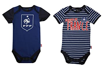 Equipe de FRANCE de football Body bébé x 2 FFF - Collection officielle 24  mois 81e9bed3980