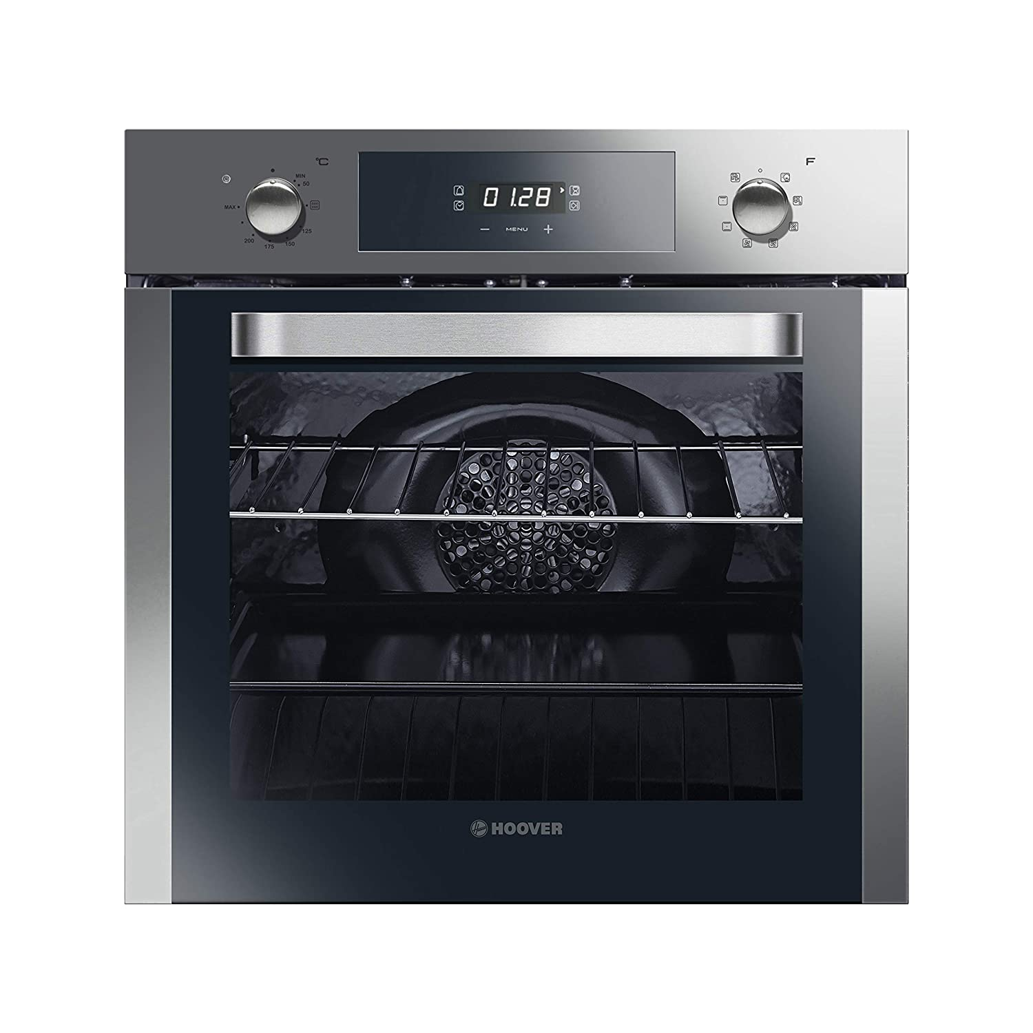 Hoover HOSM6581IN Electric Multifunctional Built-In Single Oven in Stainless Steel Finish with 65 litre capacity and A Energy Rating [Energy Class A]