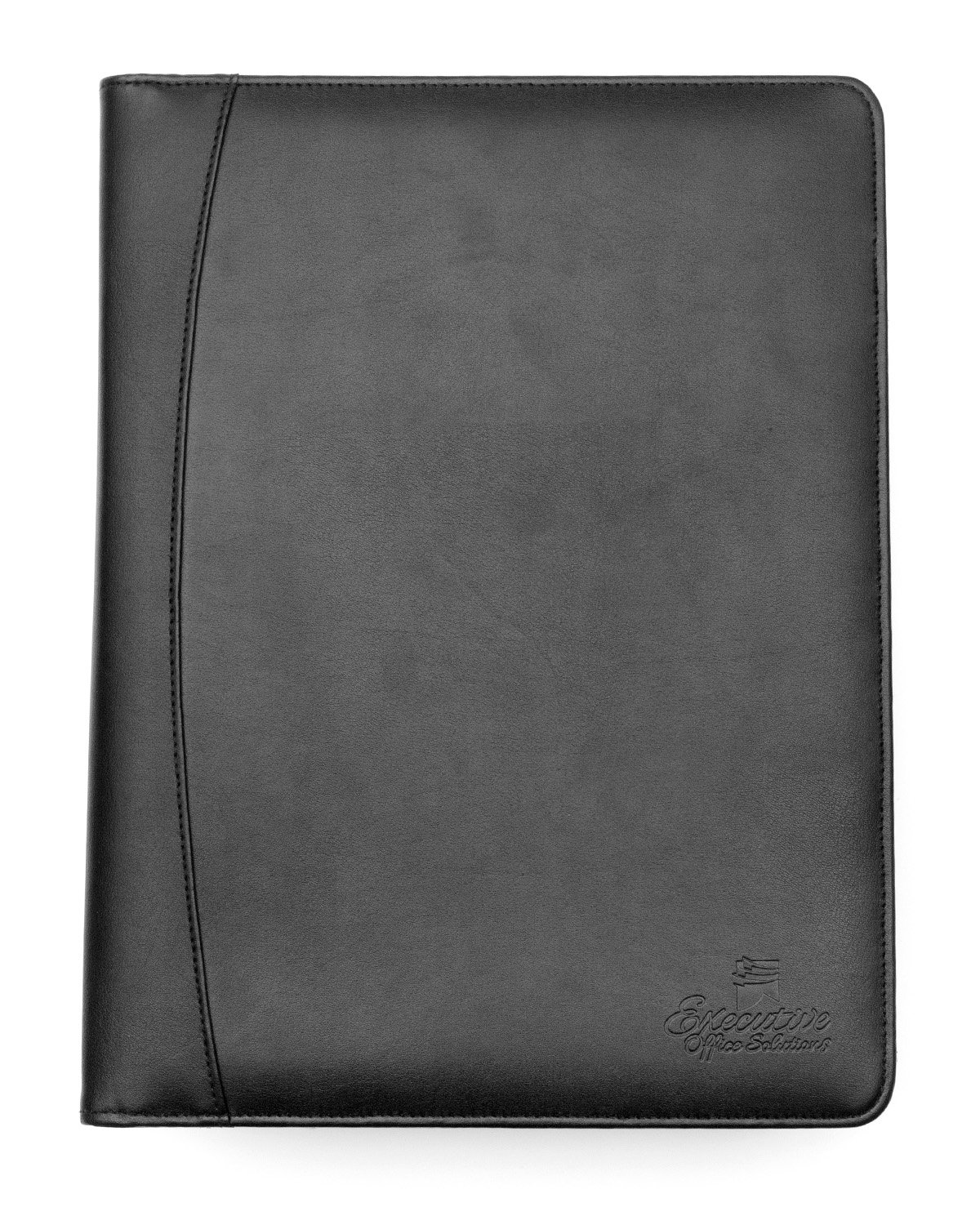 Professional Business Padfolio/Portfolio Case Organizer Resume/Interview Folder Synthetic Leather With Refillable Letter Size Writing Pad - Black