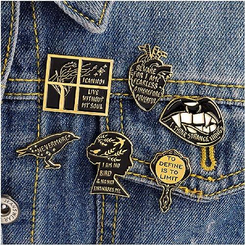 Cartoon Jewelry Gifts I Believe  Denim Jacket Badge Festive Brooch Enamel Pin