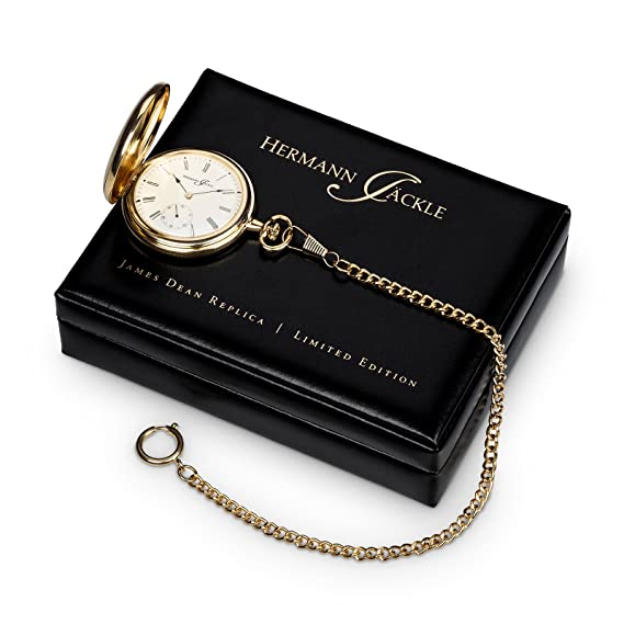 Hermann Jäckle James Dean Réplica Limited Edition Reloj de bolsillo con cuerda manual incl. Cadena