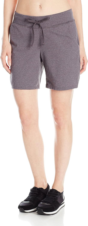 "Hanes Womens Jersey Shorts w Pockets Drawstring Super Soft 100/% Cotton 7/"" Inseam"