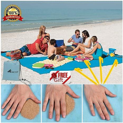 Camping & Hiking Sand Free Beach Mat Blanket Sand Proof Magic Sandless Outdoor Blanket Portable Picnic Mat