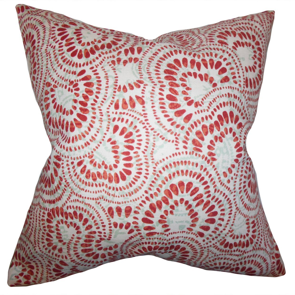 The Pillow Collection Glynis Floral Bedding Sham Mint Red Queen//20 x 30