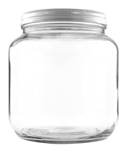 e04f46d47e4 Amazon.com  64oz Clear Wide-mouth Glass Jar