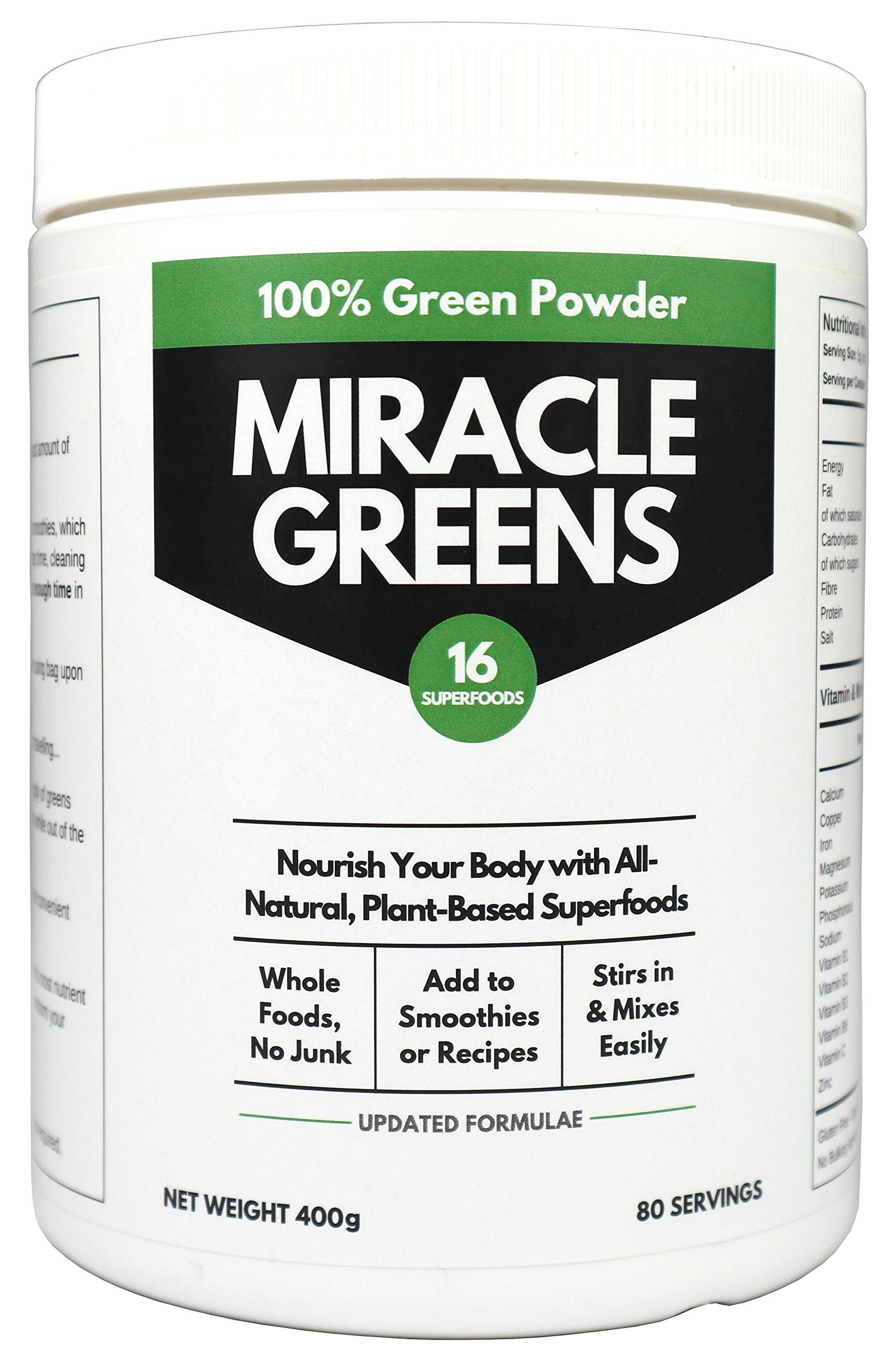 Organic Super Greens Powder (400g) | 16 Superfoods to Protect Your Immune System from Colds and Flu | Researched and Tested | UK Made Super Greens for Nutrition, to Boost Immunity and Detox