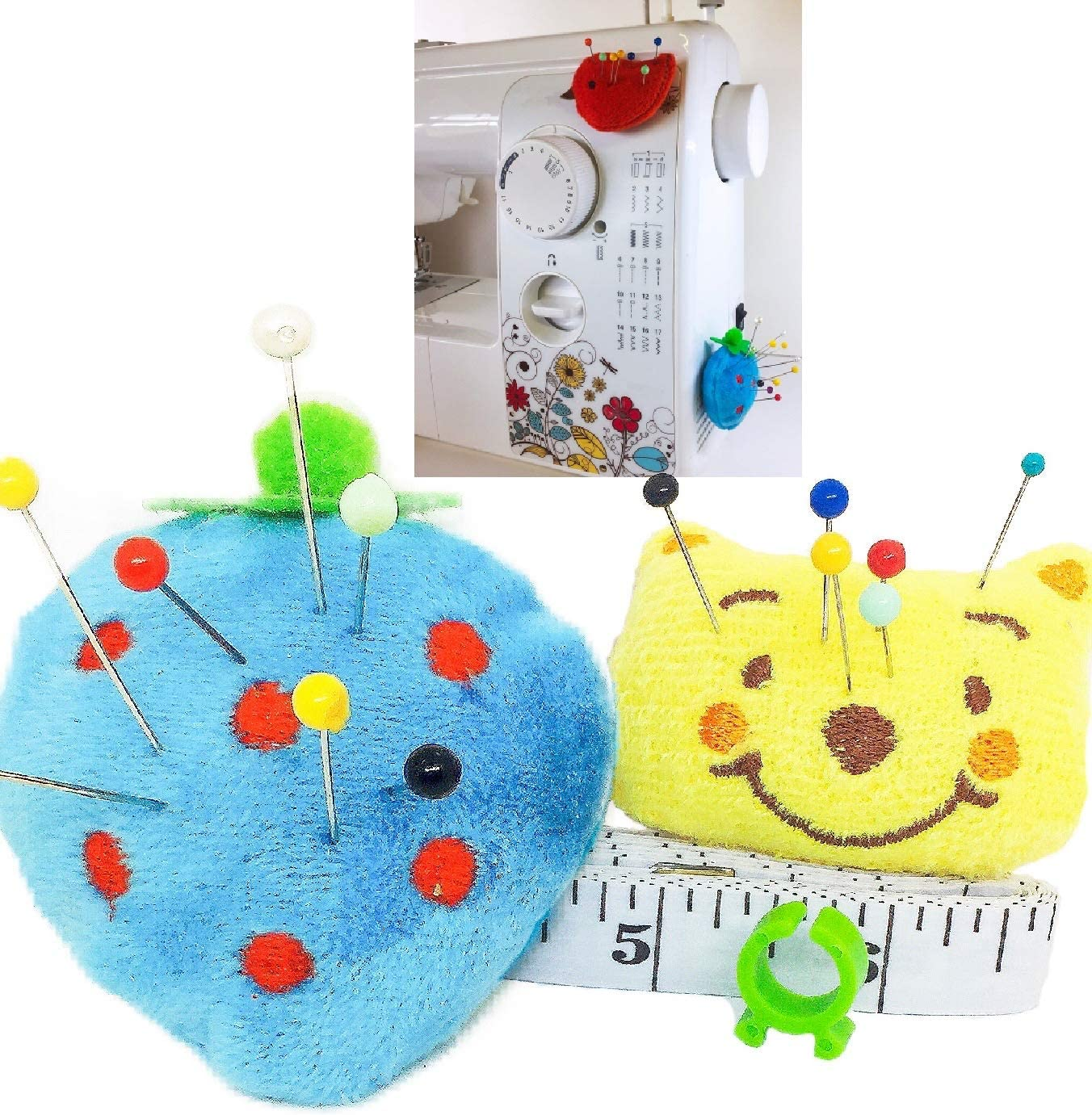 Pincushion for Sewing Machine Pin Holder 2 pcs Needle Storage Organizer DIY Craft S Blue