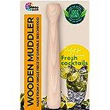 Steso Wooden Muddler Drink Cocktail Mojito – Durable Muddler Bar Tool Wood - Stable Muddled Fruit Mint Lime Lemon Herb…