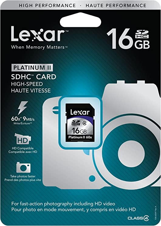 Amazon.com: Lexar Platinum II 16 GB 60 X tarjeta de memoria ...