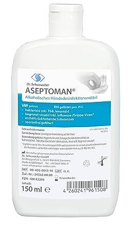 Aseptoman Handedesinfektion 150 Ml Kittelflasche Amazon De