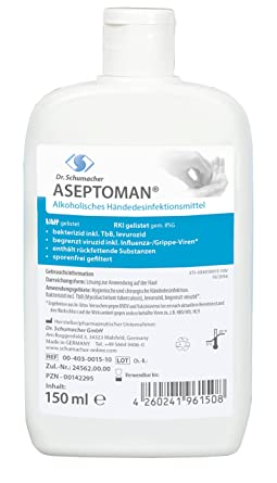 Aseptoman Handedesinfektion 150 Ml Kittelflasche Amazon De