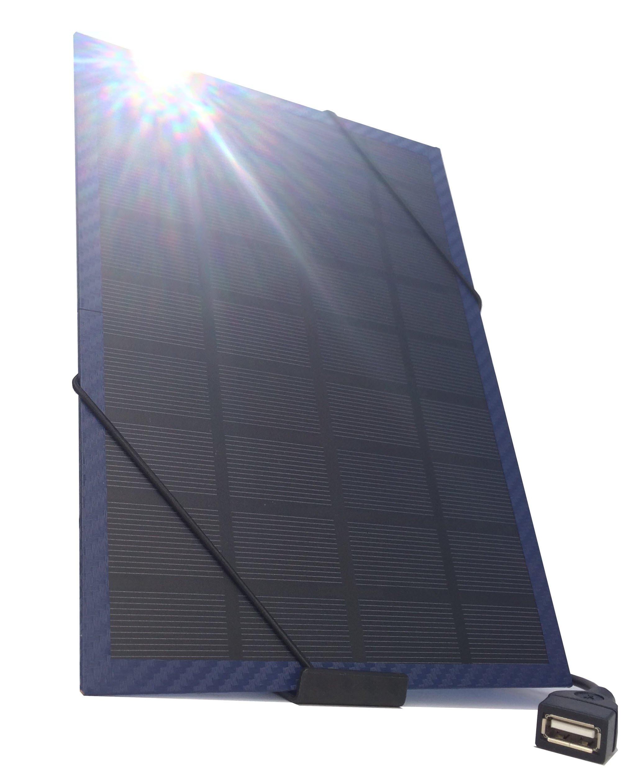 Cargador Solar Portatil de 5 Watts de Salida NEFF SOLAR Azul