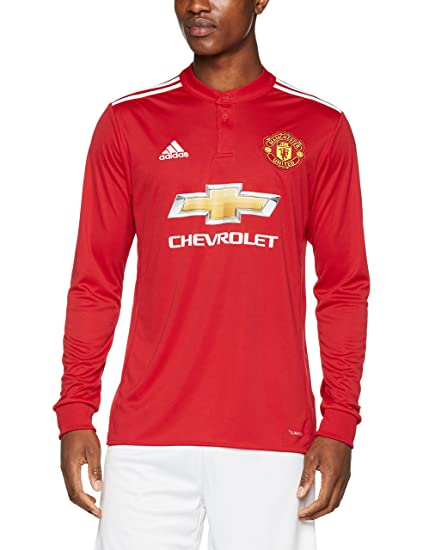 quality design b5f01 810d7 Amazon.com : 2017-2018 Man Utd Adidas Home Long Sleeve Shirt ...