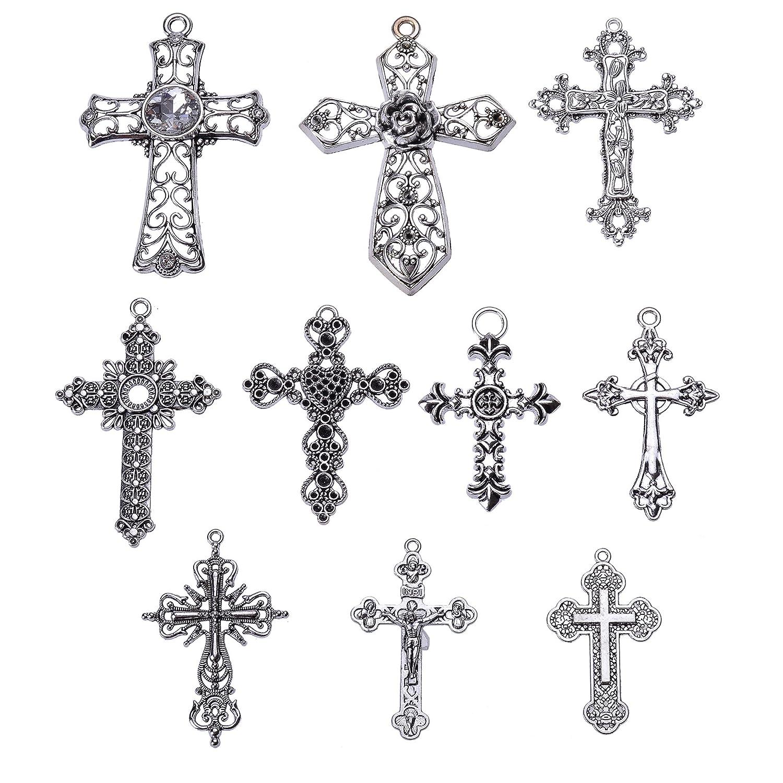 Vintage Tibetan Silver Receptacle, Classic Beads Accessories, Pendant or Necklace End Caps, 20 PCS (30) long river