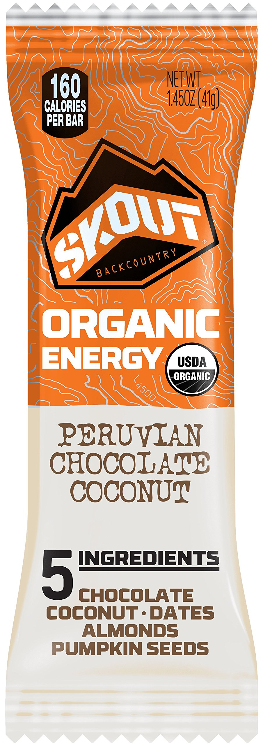 Skout Organic Energy Bar, Peruvian Chocolate Coconut, 12 Bars by Skout Backcountry