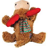 KONG - Christmas Cozie Reindeer - Indoor Cuddle Squeaky Plush Dog Toy - for Medium Dogs